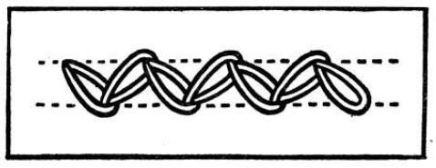 Embroidery Zigzag Chain Stitch
